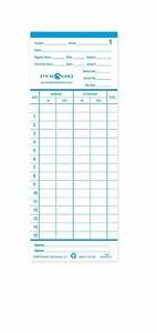 Time Cards Clock Employee Punch Cards Office School Supplies Pack Of 100 New