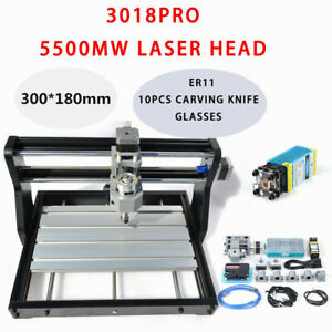 Us Cnc3018pro Diy Router Kit Laser Engraving Milling Machine Grbl Control 3 Axis