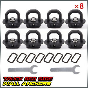 8 Pcs For Chevy Silverado Gmc Sierra Tie Down Anchor Truck Bed Side Wall Anchors
