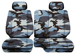 Urban Camo Blue Car Seat Covers Fits 95 00toyota Tacoma Front Bench 60 40 2hr