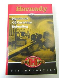 Cartridge Reloading Book Handbook Hornady Vol. 2 Bullets Ammo Reloading 5th Ed