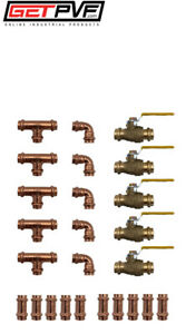 Lot Of 25pcs Propress 1 2 Copper Fittings Valves Save New