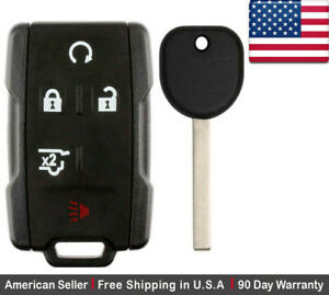 1 New Replacement Keyless Entry Key Fob Remote Control For Chevy Gmc Gm13580081