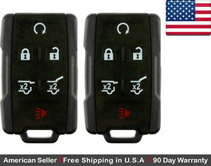 2 New Replacement Keyless Key Fob Remote Control For Chevy Gmc Gm 13577766