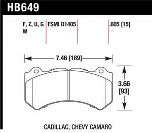 Hawk hb649z 605 Performance Ceramic Front Brake Pads For 2012 14 Jeep Cherokee