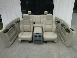 2008 2010 Ford Super Duty Crew Cab Front Rear Seats W Console Door Panels