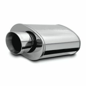 Magnaflow Stainless Muffler With Tips Race Series Inlet Outlet 3in 4in 14819