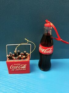 Coca-Cola Christmas Ornaments Collection Lot of 2