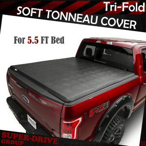 For 2007 2019 Toyota Tundra 5 5ft Bed Lock Tri Fold Assemble Soft Tonneau Cover