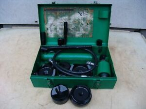 Greenlee 7310 Hydraulic Knockout Punch And Die Set 3 4 To 4 11 14 19 1