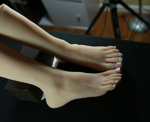 Top Quality Silicone Female Legs Feet Big Foot Shoes socks Display Model Size 39