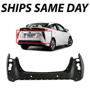New Primered Rear Bumper Cover For 2016 2017 2018 Toyota Prius W Park 16 17 18