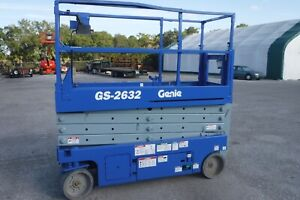2007 Genie Gs 2632 26 Electric Scissor Man Lift Aerial Platform Manlift 24v