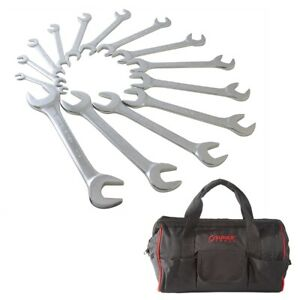 Sunex 9914 14 Piece Metric Fully Polished Angle Head Wrench Set With Tool Bag