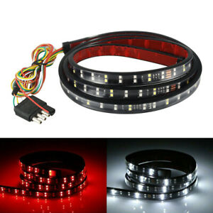 2 Row 60 180 Led Strip Sequential Turn Signal Brake Reverse Tailgate Lights Bar