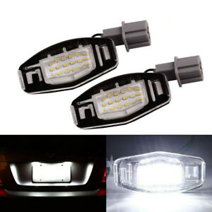 2x For Acura Tl Tsx Mdx Honda Civic Accord 18 Led License Plate Light Direct Fit