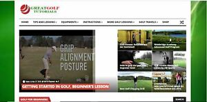 Killer Design turnkey Profitable Golf Video Website For Sale