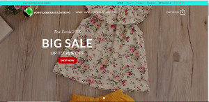Profitable baby Clothing turnkey dropship website business for sale