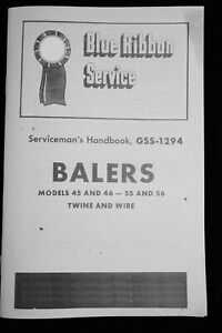 Ih Baler Knotter Service Manual Gss 1294 45 46 55 56 Twine Wire Small Square