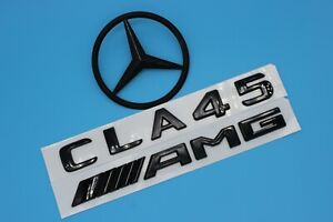 Gloss Black Cla45 amg Trunk Logo Sticker Decal Emblem Badge Package For W117 05