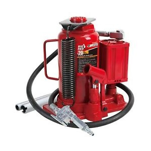 Torin Big Red Air Hydraulic Bottle Jack 20 Ton Capacity Steel Construction New