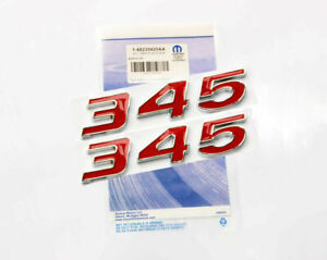 2x Red 345 Emblem Badge Decal 3d Fit For New