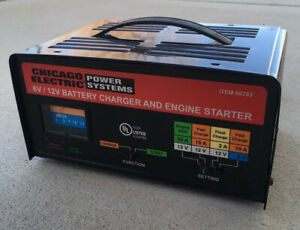 Vintage Car Auto Chicago Electric Power Systems 6 12 Volt Battery Charger