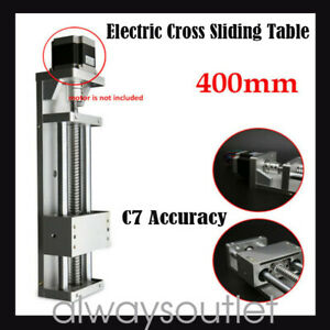 Electric Sliding Table Sfu1605 Ball Screw Linear Stage Cnc Slide Stroke 400mm