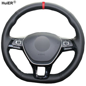 Hand Sewing Car Steering Wheel Cover For Volkswagen Vw Golf 7 Mk7 New Polo Jetta