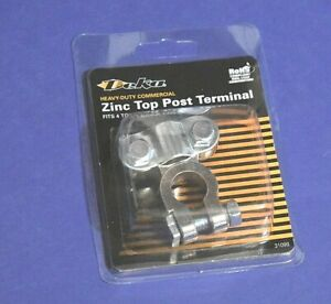 Zinc Top Post Heavy Duty Battery Terminal 4 To 2 0 Gauge Cable Lead Free