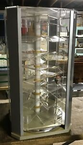 Acrylic Counter Top Locking Display Case Spinner Vertical