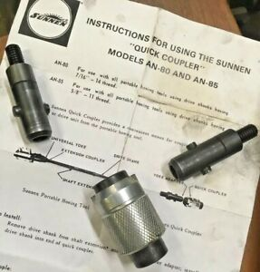Sunnen An 80 Cylinder Hone Quick Change Coupler W 2 Adapters Disconnect 7 16 14