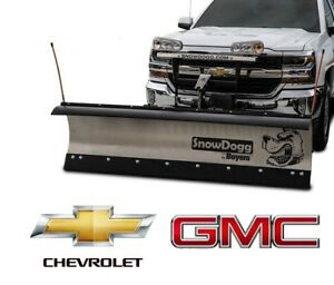Chevy Gmc Snow Plow Snowdogg Md75 Gen 1 Reliable Strong Mid Weight 7 5 Sale