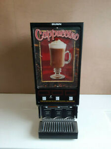 Bunn Fmd 3 Hot Powdered Drink Machine 3 Hoppers Cafe Display 120v Cappuccino