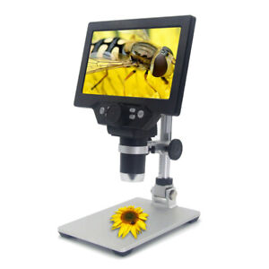 G1200 12mp 1 1200x Continuous Digital Microscope Magnifier Endoscope Stand Usa