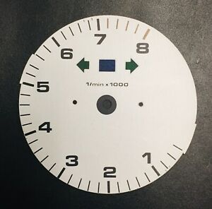 Porsche 964 993 Tachometer Gauge Face With Rescaled Redline Silver Clearance