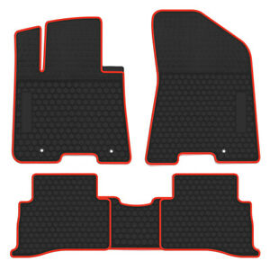 Car Floor Mats Liners Vehicle Carpet For Kia Sportage 2016 2017 2018 Black Red