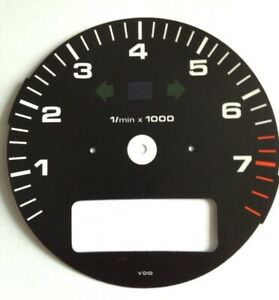 New Porsche 911 964 993 Tachometer Gauge Face With Obc