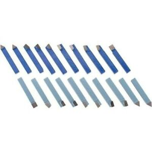 20 Pc 1 2 Carbide Tip Tipped Cutter Tool Bit Cutting Set For Metal Lathe Tool