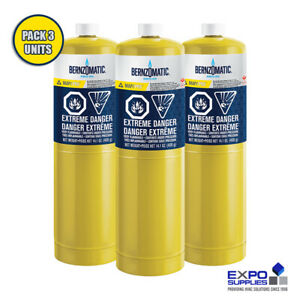 Bernzomatic Map pro Gas Cylinder With Seam Cover Plates 14 1 Oz Pack Of 3