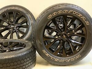 20 20 Inch Oem Factory Ford F 150 King Ranch Gloss Black Wheels Rims Tires Set