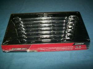 New Snap On 10 Thru 15 17 Mm 12pt Flank Drive Plus Ratchet Wrench Set Soxrrm707