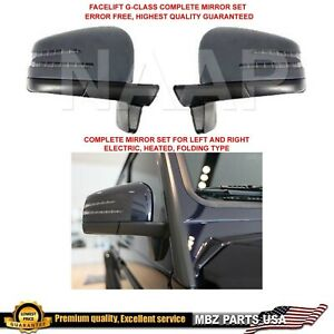Complete Mirror Set For G63 G500 G550 G55 G class G wagon Led Facelift Side View
