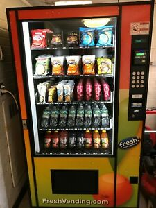 Ams Glass Front Combo Bottle snack Vending Machine Used