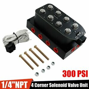1 4 Npt 4 Corner Solenoid Valve Unit Vu4 Manifold Fit Air Bag Suspension System
