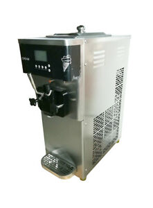 110v Single Flavor Soft Ice Cream Machine 15l h Stainless Steel 1 4hp