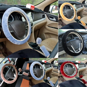 1 Sets Universal New Warm Soft Fuzzy Plush Car Steering Wheel Cover For Winter