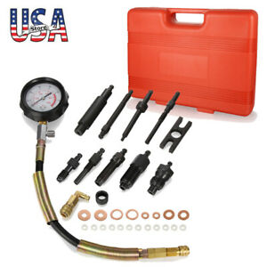 New Engine Cylinder Compression Tester Professional Kit Direct Indirect Truck