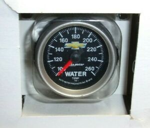 Autometer Electric Full Sweep Water Temp Gauge Kit 2 1 16 Gm Bowtie Chevy