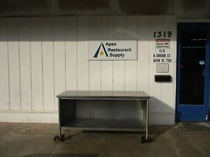 All Stainless Steel 72 X 30 X 35 Enclosed Work Table W Undershelf 4764